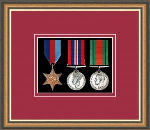 Military Medal Frame – M3-49H Walnut-Beaujolais Mount