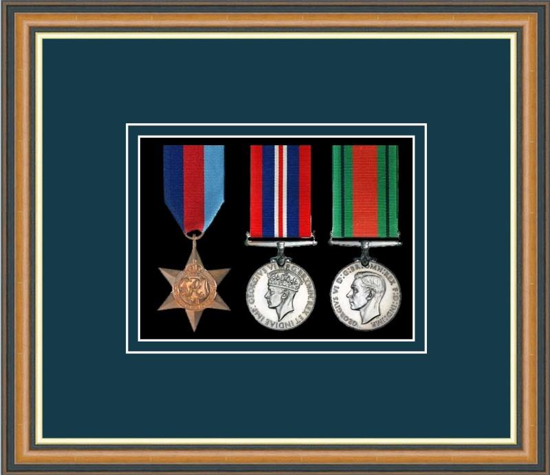 Military Medal Frame – M3-49H Walnut-Nightshade Mount