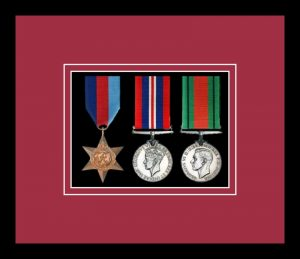 Military Medal Frame – M3-77i Black-Beaujolais Mount