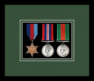 Military Medal Frame – M3-77i Black-Forest Green Mount