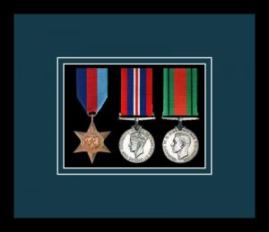 Military Medal Frame – M3-77i Black-Nightshade Mount