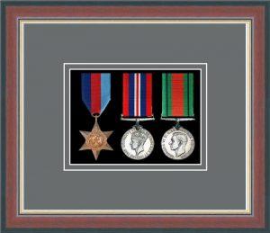 Military Medal Frame – M3-78F Dark Walnut-Grey Mount