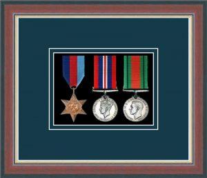 Military Medal Frame – M3-78F Dark Walnut-Nightshade Mount