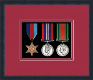 Military Medal Frame – M3-84D Black-Beaujolais Mount