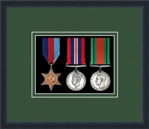 Military Medal Frame – M3-84D Black-Forest Green Mount