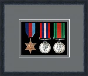 Military Medal Frame – M3-84D Black-Grey Mount