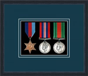 Military Medal Frame – M3-84D Black-Nightshade Mount