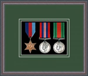 Military Medal Frame – M3-8C Oak-Forest Green Mount