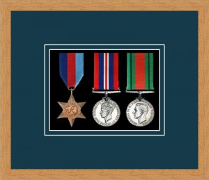 Military Medal Frame – M3-98F Light Woodgrain-Nightshade Mount