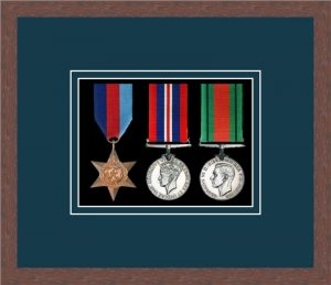 Military Medal Frame – M3-99F Dark Woodgrain-Nightshade Mount