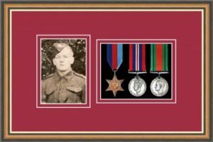 Military Medal Frame – M3PH-49H Walnut-Beaujolais Mount