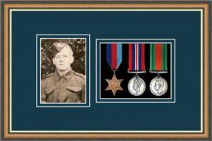 Military Medal Frame – M3PH-49H Walnut-Nightshade Mount