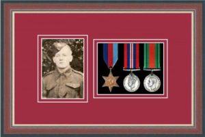 Military Medal Frame – M3PH-78F Dark Walnut-Beaujolais Mount