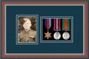 Military Medal Frame – M3PH-78F Dark Walnut-Nightshade Mount