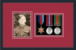 Military Medal Frame – M3PH-84D Black-Beaujolais Mount