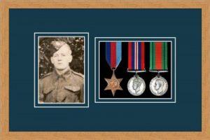 Military Medal Frame – M3PH-98F Light Woodgrain-Nightshade Mount