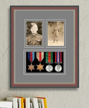 Frames For Four Medals and Two Photos £44.14
