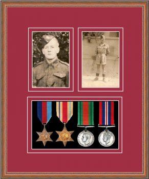 Military Medal Frame – M9-14C Teak-Beaujolais Mount