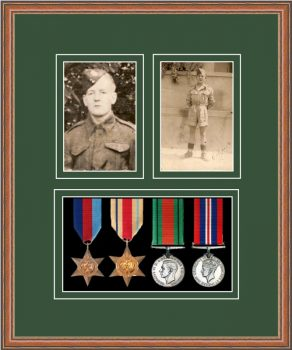 Military Medal Frame – M9-14C Teak-Forest Green Mount