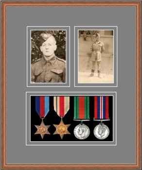 Military Medal Frame – M9-14C Teak-Grey Mount