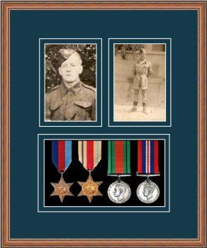 Military Medal Frame – M9-14C Teak-Nightshade Mount