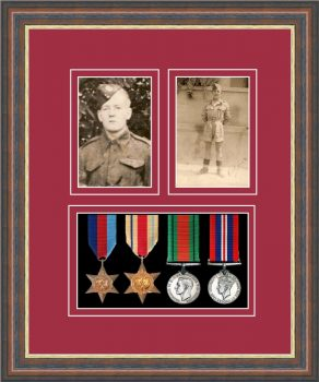 Military Medal Frame – M9-45F Mahogany-Beaujolais Mount