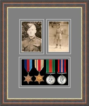 Military Medal Frame – M9-45F Mahogany-Grey Mount