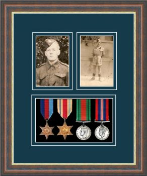 Military Medal Frame – M9-45F Mahogany-Nightshade Mount