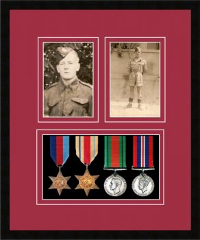 Military Medal Frame – M9-77i Black-Beaujolais Mount