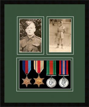 Military Medal Frame – M9-77i Black-Forest Green Mount