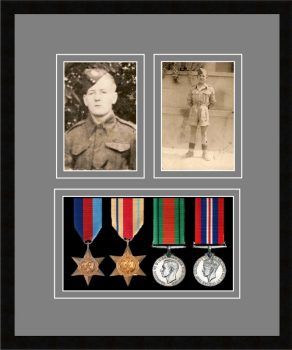 Military Medal Frame – M9-77i Black-Grey Mount