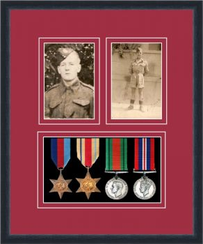Military Medal Frame – M9-84D Black-Beaujolais Mount