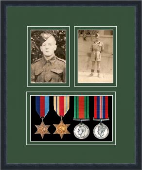 Military Medal Frame – M9-84D Black-Forest Green Mount