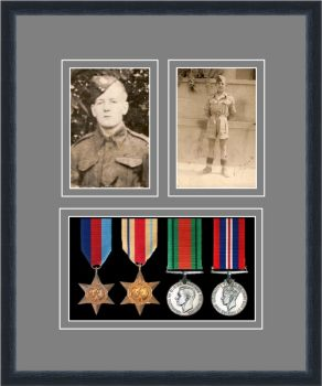 Military Medal Frame – M9-84D Black-Grey Mount