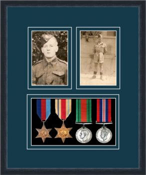 Military Medal Frame – M9-84D Black-Nightshade Mount
