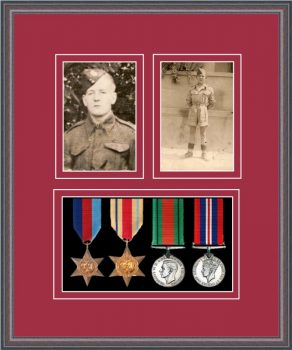 Military Medal Frame – M9-8C Oak-Beaujolais Mount