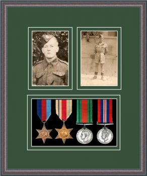Military Medal Frame – M9-8C Oak-Forest Green Mount