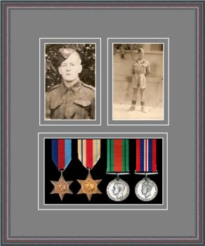 Military Medal Frame – M9-8C Oak-Grey Mount