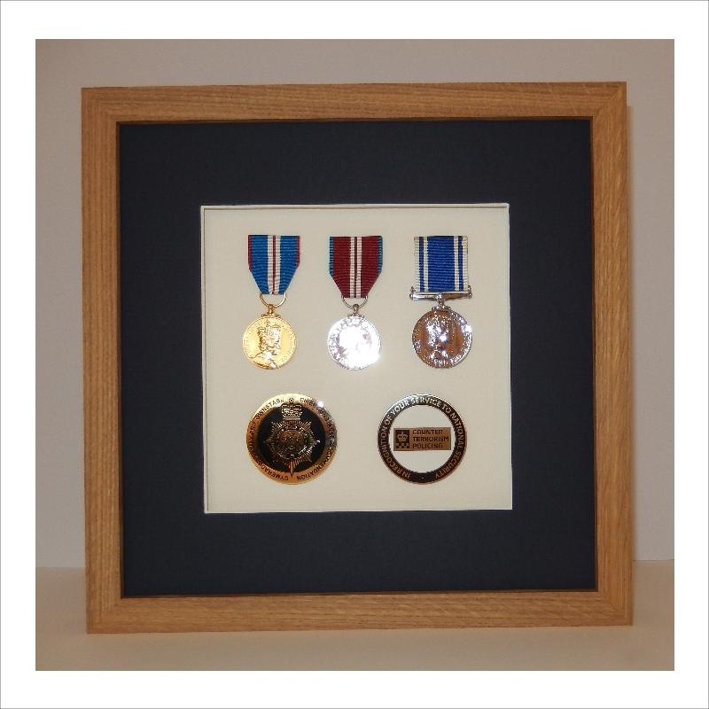 Framed Police Medals