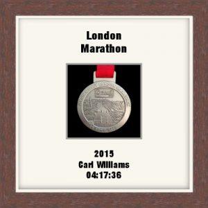 Personalised S1 Dark Woodgrain Marathon Medal Frame