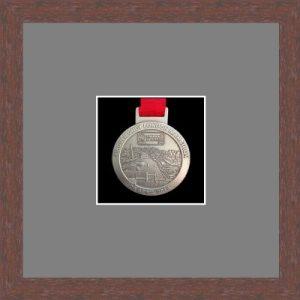 Marathon Medal Frame – S1-99F Dark Woodgrain-Grey Mount
