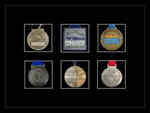 Marathon Medal Frame – S12-77i Black-Black Mount