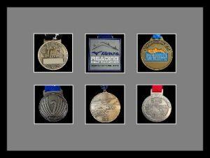 Marathon Medal Frame – S12-77i Black-Grey Mount