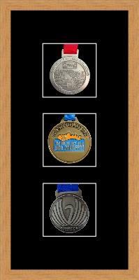 Marathon Medal Frame – S13-98F Light Woodgrain-Black Mount