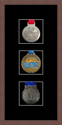 Marathon Medal Frame – S13-99F Dark Woodgrain-Black Mount