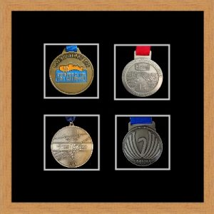 Marathon Medal Frame – S14-98F Light Woodgrain-Black Mount