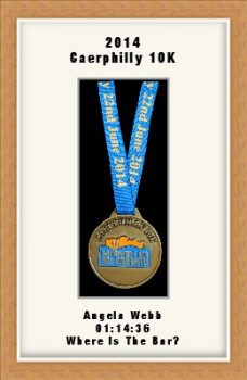Personalised S2 Light Woodgrain Marathon Medal Frame