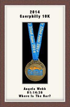 Personalised S2 Dark Woodgrain Marathon Medal Frame