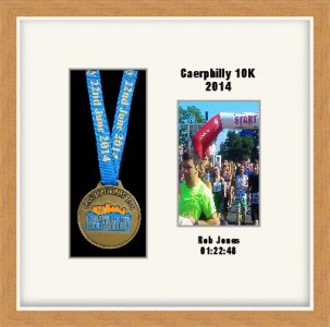 Personalised S2PH Light Woodgrain Marathon Medal Frame