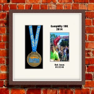 Personalised Dark Wood Marathon Medal Frames